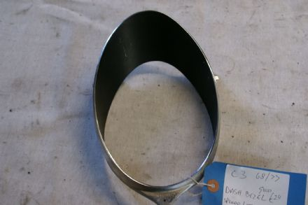 1968-1977 C3 Corvette,Tachometer And Speedo Lens Trim Bezel,GM 6480912,Used